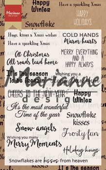 Marianne Design- Clearstempel- Happy Holidays: CS1009