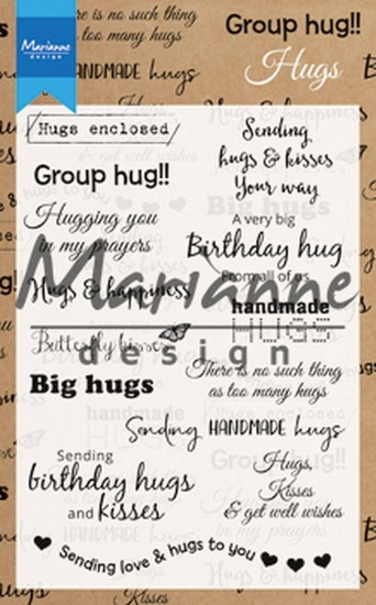 Marianne Design- Clear stempel- Hugs: CS1011