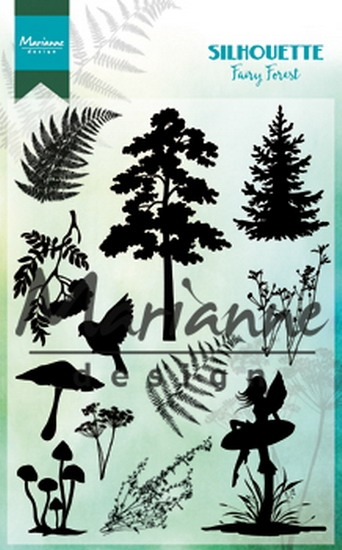 Marianne Design- Clearstempel- Silhoutte fairy forest: CS1013