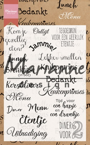 Marianne Design- Clearstempel- Menu: CS1015