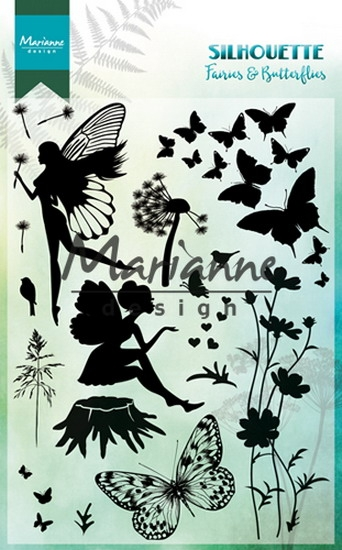 Marianne Design- Clearstempel- Silhoutte fairies & butterflies: CS1016