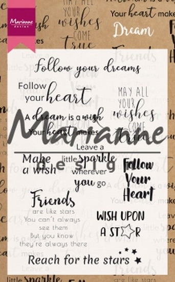 Marianne Design- Clearstempel- Dream Sentiments (UK): CS1018