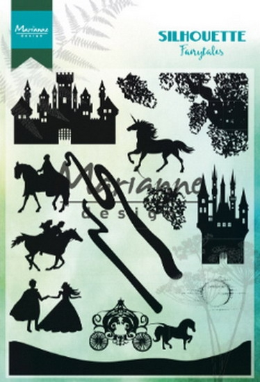 Marianne Design- Clearstempel- Silhouette fairytales: CS1020