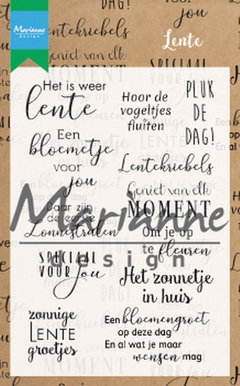 Marianne Design- Clearstempel- Lente: CS1022