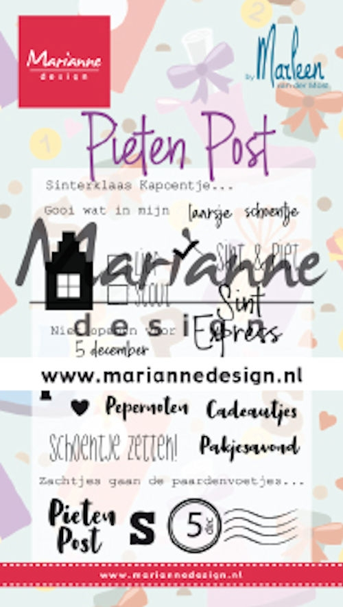 Marianne Design- Clearstempel- Pietenpost by Marleen: CS1042