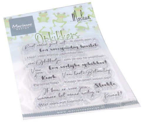 Marianne Design- Clear stempel- Opkikkers by Marleen: CS1065