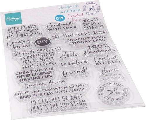 Marianne Design- Clear stempel- Crafting sentiments: CS1072