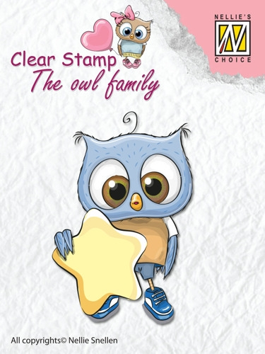 Nellie's Choice- Clearstempel- The owl family- Star: CSO007