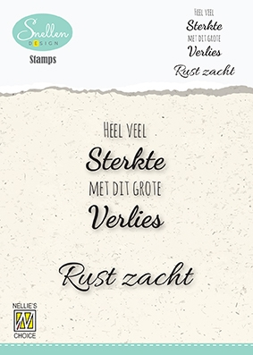 Nellie's Choice- Clear Stamps- NL Heel veel Sterkte�..: DCTCS001