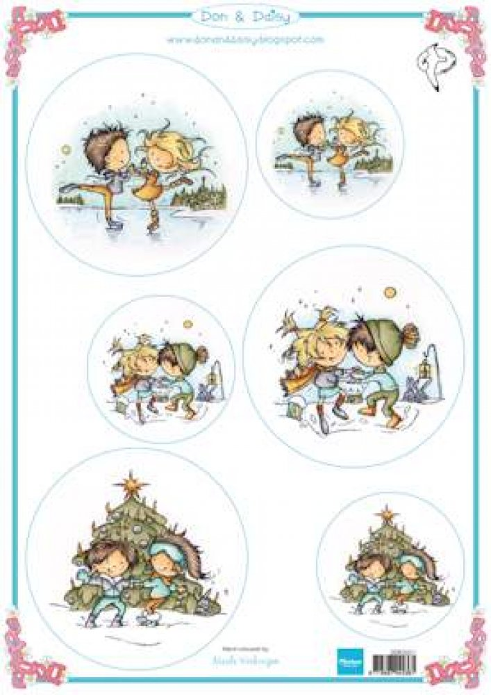 Marianne Design- Knipvel-  Don & Daisy Dancing on ice : DDK3221