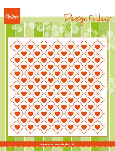 Marianne Design- Embossing folder- Sweet hearts: DF3432