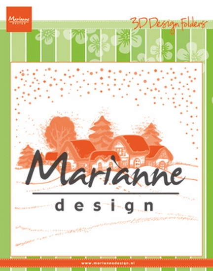 Marianne Design- Design Folder- Extra Wintervillage: DF3442