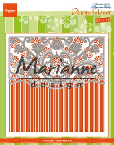 Marianne Design- Design Folder De Luxe- Anja's ornamental border: DF3443