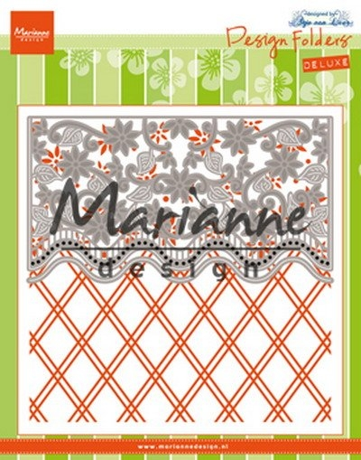 Marianne Design- Design Folder De Luxe- Anja's Flower border: DF3444