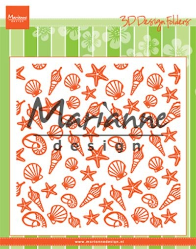 Marianne Design- 3D design Folder- Sea Shells: DF3448