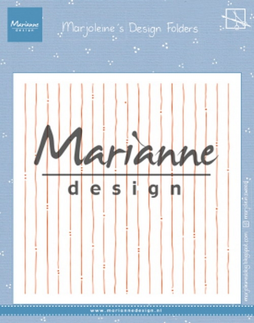 Marianne Design- Design Folder Marjolein's Stripes: DF3456