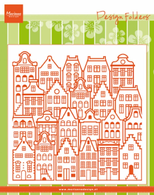 Marianne Design- Design folder- dutch houses: DF3458