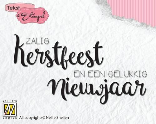 Nellie's Choice- Clearstempel Tekst- Zalig Kerstfeest : DTCS022