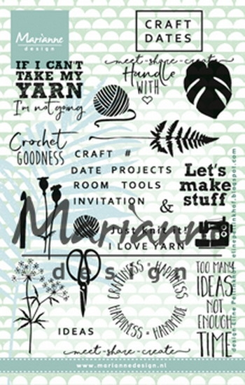 Marianne Design- Clear stempel- Craft dates 1: EC0166