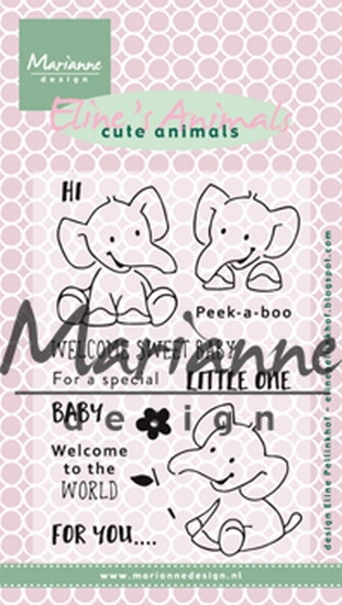 Marianne Design- Clear stempel- Eline's Elephant: EC0168