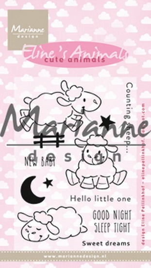 Marianne Design- Clear stempel- Eline's cute animals sheep: EC0175