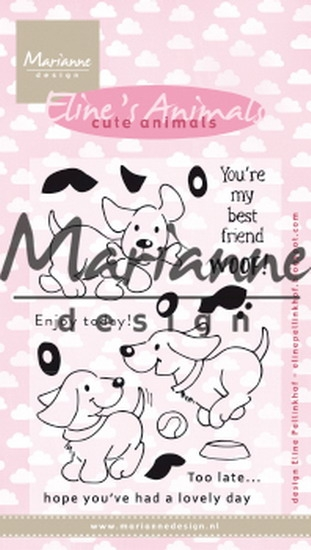 Marianne Design- Clearstempel- Eline's cute puppies: EC0177