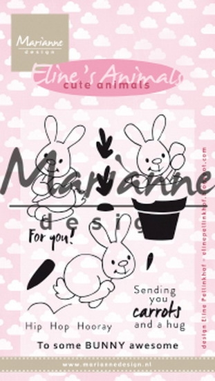 Marianne Design- Clearstempel- Eline's cute bunnies: EC0178