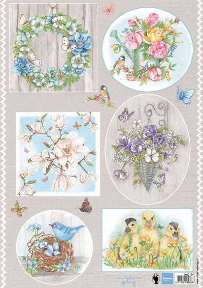 Marianne Design- 3d knipvel- Els Country Flowers I: EWK1247