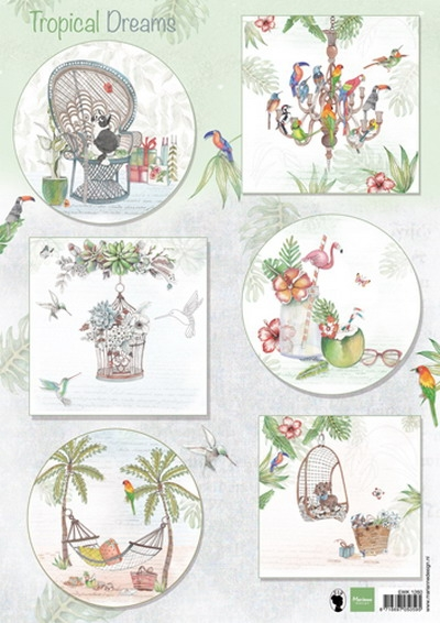 Marianne Design- Knipvel- Els Tropical dreams: EWK1260