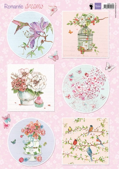 Marianne Design- Knipvel- Romantic dreams pink: EWK1264