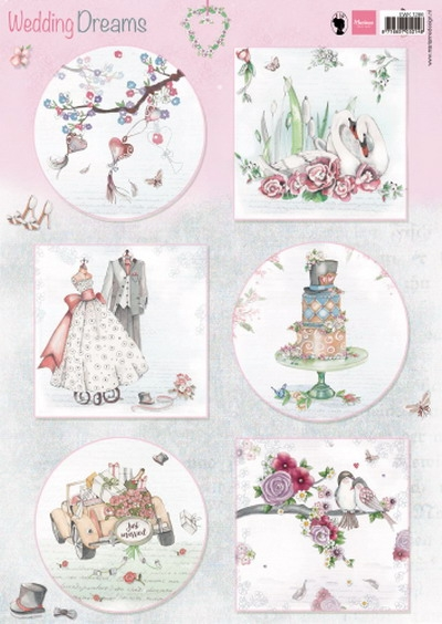Marianne Design- Knipvel- Wedding dreams: EWK1266