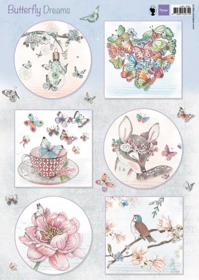 Marianne Design- Knipvel- Butterfly dreams: EWK1267