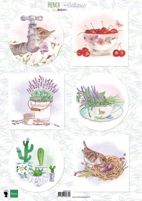 Marianne Design- Knipvel- French antiques lavender: EWK1272