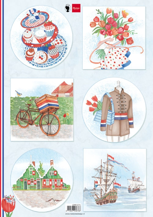 Marianne Design- Knipvel- I Love Holland- Bicycle: EWK1274