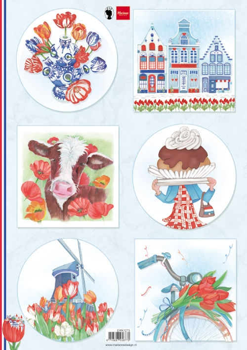 Marianne Design- Knipvel- I Love Holland- Tulips: EWK1275