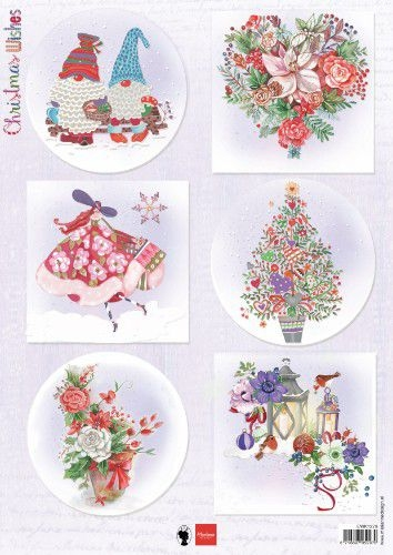Marianne Design- Knipvel- Christmas Wishes Gnomes: EWK1279