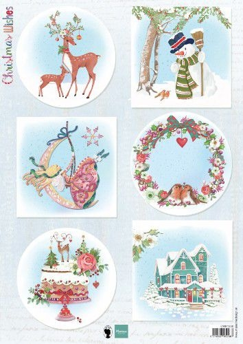 Marianne Design- Knipvel- Christmas Wishes: EWK1280