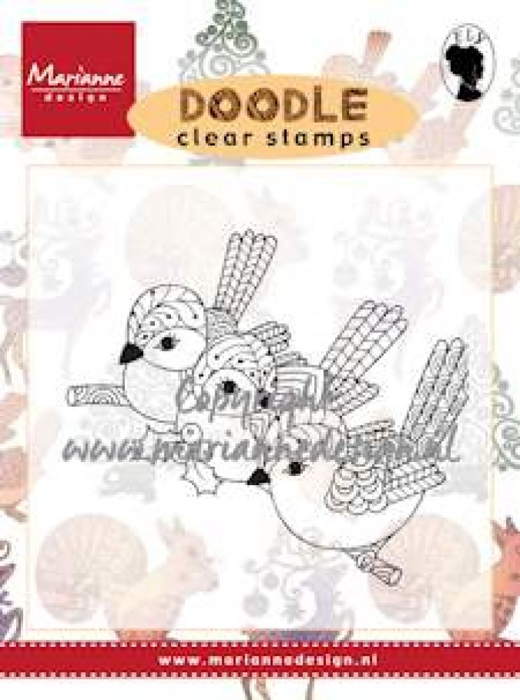 Marianne Design- Clear Stamp- Birds: EWS2213
