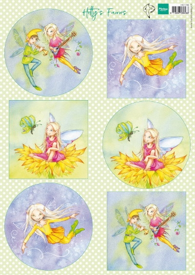 Marianne Design- Knipvel- Hetty's Fairies: HK1706
