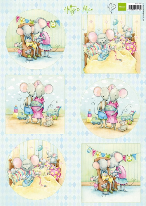 Marianne Design- Knipvel- Hetty's mice new born: HK1708