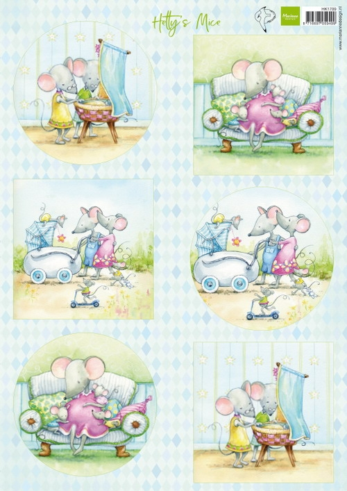 Marianne Design- Knipvel- Hetty's mice new born: HK1709