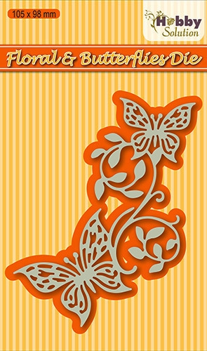 Nellie's Choice- Hobby Solutions Die Cut- Floral & Butterflies: HSDJ003