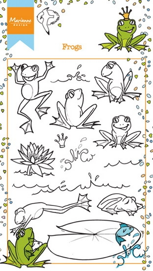 Marianne Design- Clearstempel- Frogs: HT1617