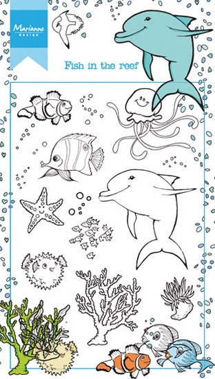 Marianne Design- Clearstempel- Fish in the reef: HT1618