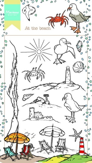 Marianne Design- Clearstempel- Hetty's at the beach: HT1622