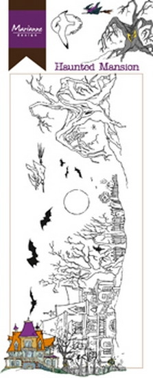 Marianne Design- Clearstempel- Hetty's border Haunted Mansion: HT1627