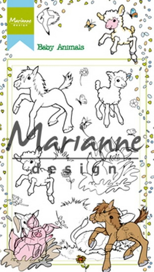 Marianne Design- Clearstempel- Hetty's Baby Animals: HT1630