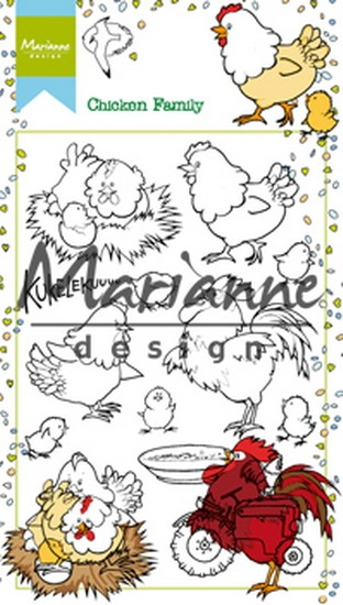 Marianne Design- Clearstempel- Hetty's Chicken Family: HT1631