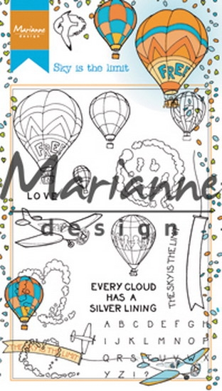 Marianne Design- Clearstempel- Hetty's border sky  is the limit: HT1634