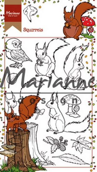 Marianne Design- Clearstempel- Hetty's Squirrels: HT1637